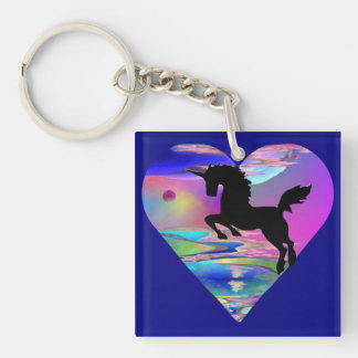 Irresistible Utherworld Unicorn Art Key Chain