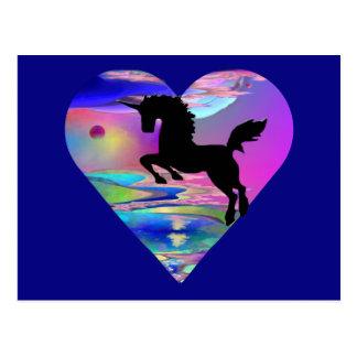 Irresistible Utherworld Unicorn Art Post Card