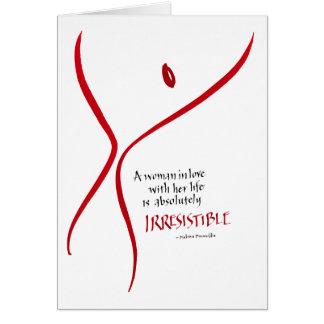Irresistible Woman - card