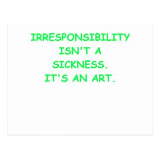 irresponsable tarjeta postal