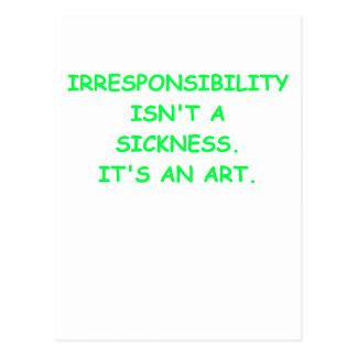irresponsable postales