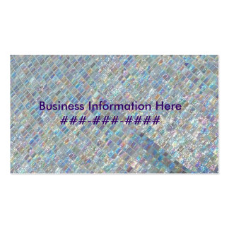 Irridescent Tile Double-Sided Standard Business Cards (Pack Of 100)