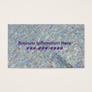 Irridescent Tile Business Card