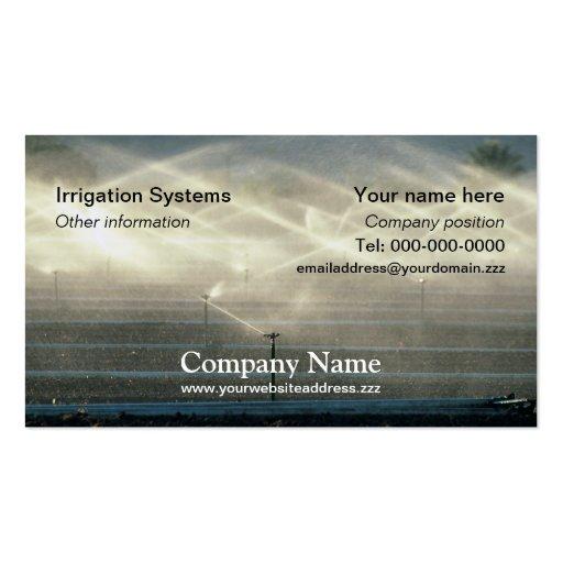Irrigation business card