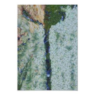 Irrigation channel 3.5x5 paper invitation card