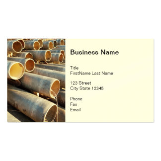 Irrigation pipe business card