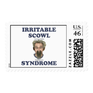 Irritable Scowl Grumpy Old Man Postage Stamps