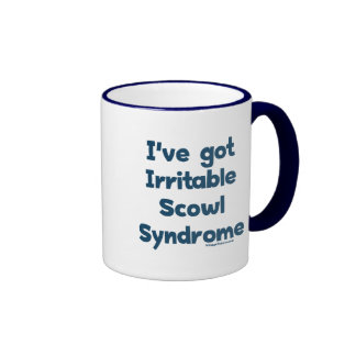 Irritable Scowl Sydrome Ringer Coffee Mug