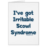 Irritable Scowl Sydrome Stationery Note Card
