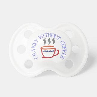 Irritable sin café chupetes de bebe