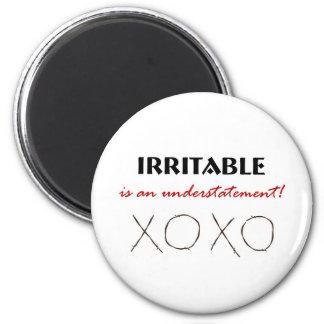 Irritable XOXO 2 Inch Round Magnet