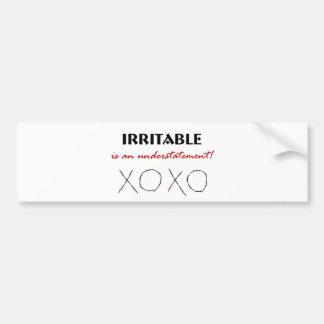 Irritable XOXO Bumper Sticker