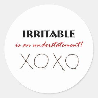 Irritable XOXO Classic Round Sticker