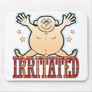 Irritated Fat Man Mouse Pad