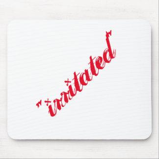 """irritated"" mouse pad"