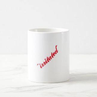 """irritated"" classic white coffee mug"