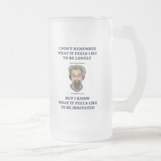 Irritated Old Man Husband 16 Oz Frosted Glass Beer Mug