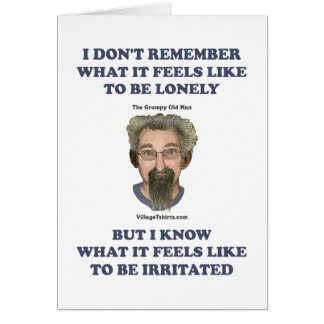 Irritated Old Man Husband Stationery Note Card