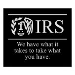 IRS $24.95 Graphic Art Wall Posters