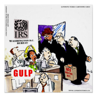 IRS Audits IRS Funny Poster Print