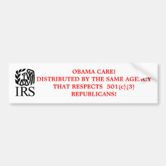IRS BUMPER STICKER