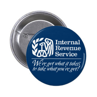 IRS Button Pinback Buttons