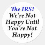 ¡IRS, camisetas del humor del impuesto! Etiquetas Redondas