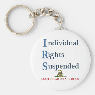 IRS Individual Rights Suspended Basic Round Button Keychain