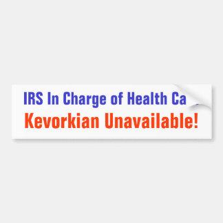 IRS responsable de la atención sanitaria Pegatina Para Auto