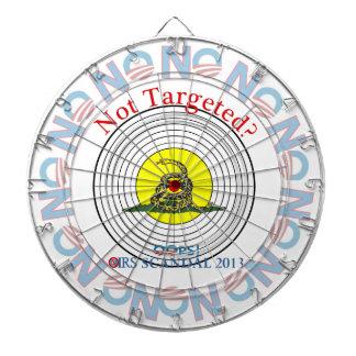 IRS Scandal 2013 Target Dartboard With Darts