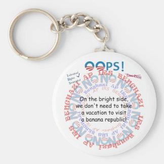 IRS Scandal Banana Republic Basic Round Button Keychain
