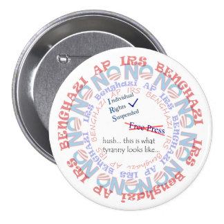 IRS Scandal HUSH Pinback Buttons