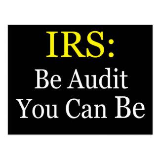 IRS: Sea auditoría que usted puede ser Postal
