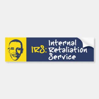 IRS Servicio interno de la venganza Etiqueta De Parachoque