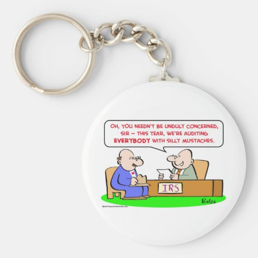 irs silly mustaches keychain