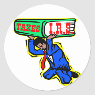 IRS Taxes Crushing The U.S. Taxpayer Classic Round Sticker