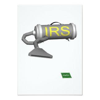 """IRS Vacuum 5"""" X 7"""" Invitation Card"""