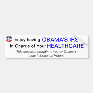 IRS y atención sanitaria Pegatina Para Auto