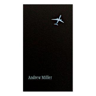 Irse volando el aeroplano de la mucha altitud del plantilla de tarjeta de visita