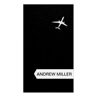 Irse volando el aeroplano de la mucha altitud del tarjetas de visita