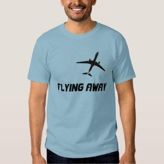 Irse volando personalizado del aeroplano del vuelo remera