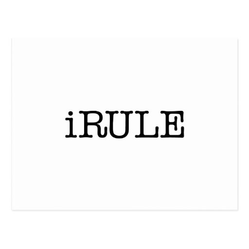 iRule (enough said) Postcard