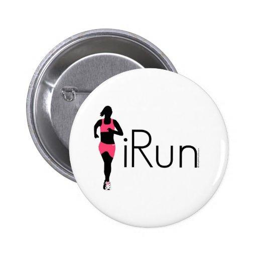 iRun 2 Inch Round Button