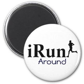 iRun Around Humorous Circle Running Magnet