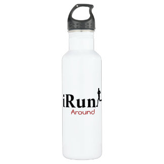 iRun Around Humorous for Men Water Bottle