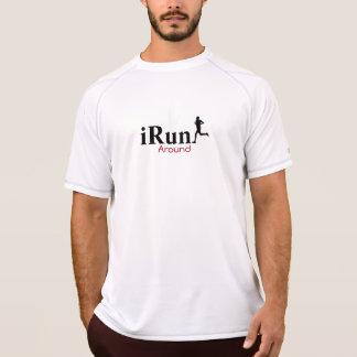 iRun Around Humorous Running T-Shirt for Men