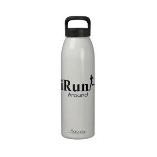 iRun Around Humorous Water Bottle for Men