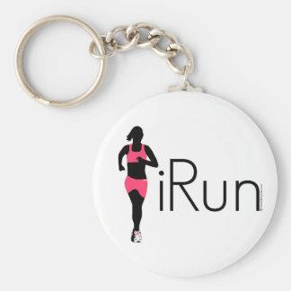 iRun Basic Round Button Keychain