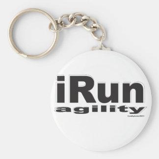 iRun Black and White Keychain