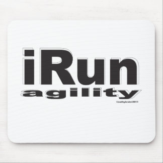 iRun Black and White Mouse Pad